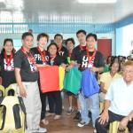 UE HS Batch '82 Presenting School Supplies to ABC Bacolod School