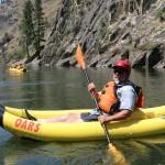 Larry in kayak